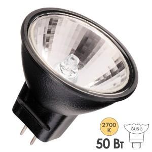 Лампа галогенная BLV Reflekto Fr/Black 35W 36° 12V GU5,3 отражатель black/черный