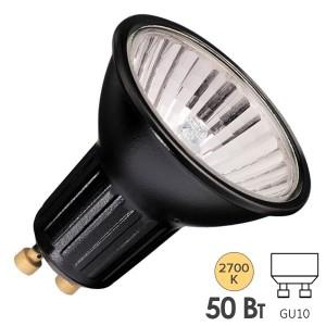 Лампа галогенная BLV Highline Black 50W 35° 220V GU10 отражатель black/черный