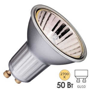 Лампа галогенная BLV Highline Silver 50W 35° 220V GU10 отражатель silver/серебристый