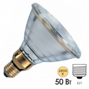 Лампа галогенная Osram 64837 ES FL HALOPAR 38 50W(60W) 30° 240V E27
