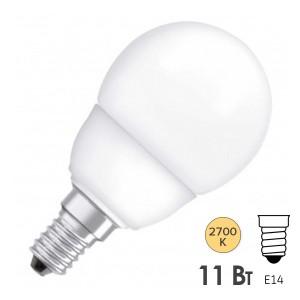 Лампа энергосберегающая ESL GL45 11W 2700K E14 d45x88