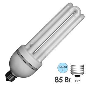 Лампа энергосберегающая ESL 4U17 85W 6400K E27 4400lm d72x265mm холодная