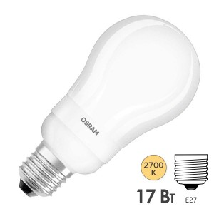 Лампа энергосберегающая Osram DSTAR CL A 17W/827 220-240V E27