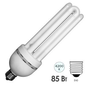 Лампа энергосберегающая ESL 4U17 85W 4200K E40 4U d72x273 белая