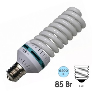 Лампа энергосберегающая ESL QL17 85W 6400K E40 спираль d105x270 холодная