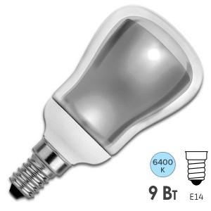 Лампа энергосберегающая ESL R50 9W 6400K E14 холодная, d50x88