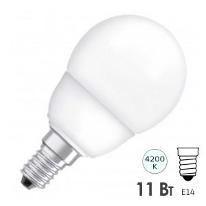 Лампа энергосберегающая ESL GL45 11W 4200K E14 d45x88