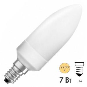 Лампа энергосберегающая Osram Classic B 7W/827 E14