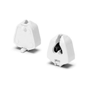 Патрон 09205 VS G5 двухпазовый торцовые защёлки d3,2 для ламп T5