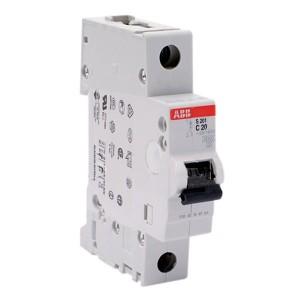 Автоматический выключатель ABB 1-полюсный S201 C20 (автомат)
