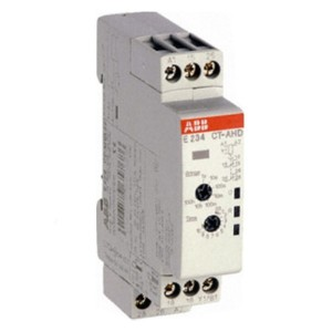 Реле времени ABB CT-AHD.12 (задержка на отключ.) 24-48B DC, 24- 240B AC (7диапазон.0,05с...100ч) 1ПК