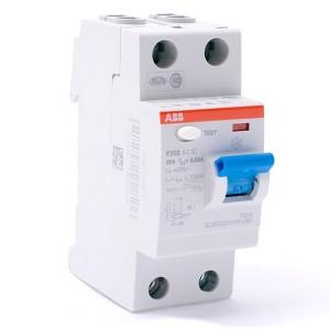 УЗО ABB F202 AC-16/0,01 2-х полюсное тип AC 16A 10mA 2 модуля