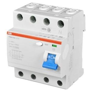 УЗО ABB F204 AC-100/0,03 4-х полюсное тип AC 100A 30mA 4 модуля