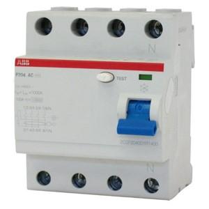 УЗО ABB F204 AC-125/0,3 4-х полюсное тип AC 125A 300mA 4 модуля