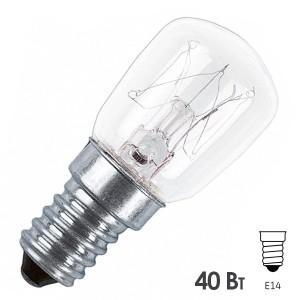 Лампа Osram SPC T25/85 CL 40W E14 для бытовой техники, кухонной вытяжки прозрачная