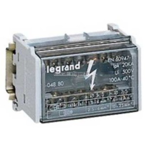 Модульный распределительный блок (кросс-модуль) 2х7 контактов 100A  Legrand