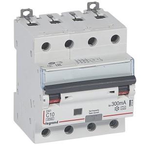 Дифавтомат Legrand DX3 АВДТ 4П C10А 300MA тип AC 4 модуля