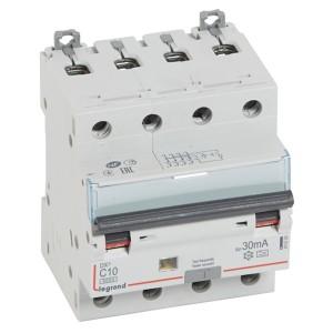Дифавтомат Legrand DX3 АВДТ 4П C10А 30MA тип A 4 модуля