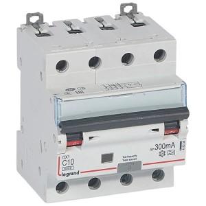 Дифавтомат Legrand DX3 АВДТ 4П C10А 300MA тип A 4 модуля