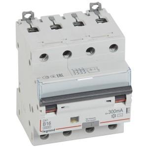 Дифавтомат Legrand DX3 АВДТ 4П B16A 300mA тип AC 4 модуля