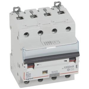 Дифавтомат Legrand DX3 АВДТ 4П B20A 1000mA тип AC 4 модуля