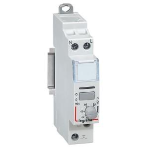 Импульсное реле Legrand CX3 1п 1НО 16А цепь управления 230В 1м малошумно задержка на откл. 5-60 мин.