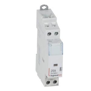 Контактор модульный Legrand CX3 230V 2 полюса 1НО+1НЗ 25А бесшумный с ручным управлением 1 модуль