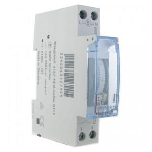 Недельный таймер аналоговый вертикальная шкала 230В 1НО 16А резервное питание на 100 часов 1 модуль