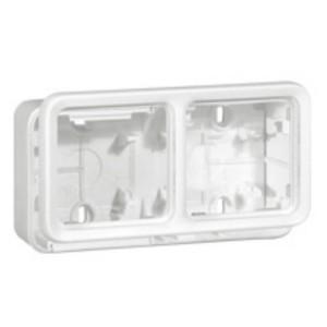 Коробка монтажная Legrand Plexo серии Artic 2 поста, горизонтальная, белый