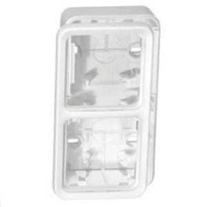 Коробка монтажная Legrand Plexo серии Artic 2 поста, вертикальная, белый