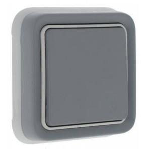 Переключатель IP55 скрытый монтаж Legrand Plexo, серый