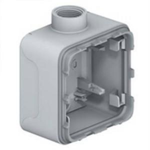 Коробка 1 пост накладного монтажа с кабельным вводом ISO20 Legrand Plexo IP55, серый