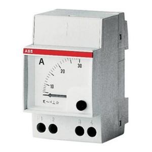 Амперметр ABB AMT 1/A1 модульный без шкалы перем. тока, через трансформатор тока
