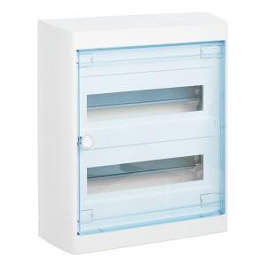 Щит Legrand Nedbox накладной на 24 (+2) модуля (2х12) с шинами N+PE с прозрачной дверью