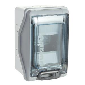 Бокс Legrand Plexo IP65 накладной на 4 модуля с шинами N+PE с прозрачной дверью