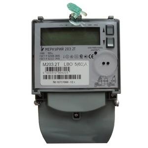 Электросчетчик Меркурий 203.2Т LBO 5-60А/220В кл.т.1,0 многотарифный ЖКИ PLC модем
