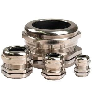 Латунный кабельный ввод, диаметр вводного отверстия М16, наружный диаметр кабель 4-8 мм.