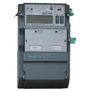 Электросчетчик Меркурий 234 АRTM-01POBR.L2 5-60А 220/380В многотарифный ЖКИ PLC-II встр. сил. реле