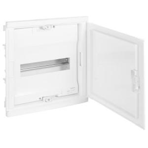 Щит Legrand Nedbox в нишу на 12 (+2) модулей (1х12) с шинами N+PE с белой дверью