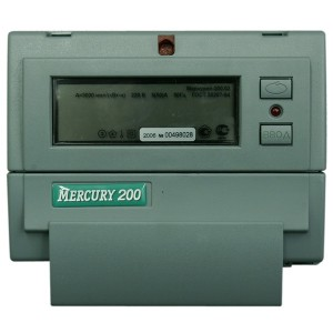 Электросчетчик Меркурий 200.02  5-60А/220В кл.т.1,0 многотарифный ЖКИ