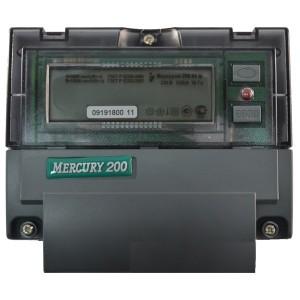 Электросчетчик Меркурий 200.04  5-60А/220В кл.т.1 многотарифный ЖКИ с PLC модемом