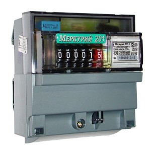 Электросчетчик Меркурий 201.5  5-60А/220В кл.т.1,0 однотарифный мех.