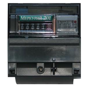 Электросчетчик Меркурий 201.6  10-80А/220В кл.т.1,0 однотарифный мех.