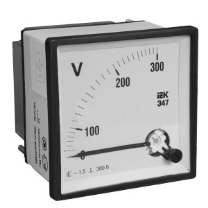 Вольтметр аналоговый Э47 300В класс точности 1,5 72х72мм IEK