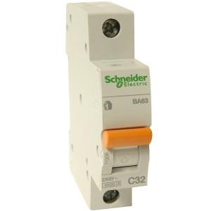 Автоматический выключатель Schneider Electric ВА63 1п 10A C 4,5 кА (автомат)
