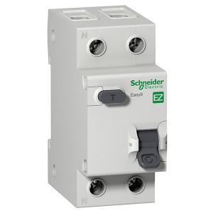 Дифференциальный автомат Schneider Electric Easy9 1П+Н 16А 30мА C тип AC 4,5кА  2 модуля