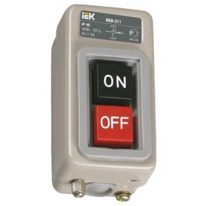 Выключатель кнопочный с механической блокировкой ВКИ-211 3Р  6А 230/400В IP40  ИЭК