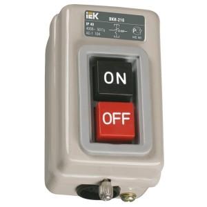 Выключатель кнопочный с механической блокировкой ВКИ-216 3Р  10А 230/400В IP40  ИЭК