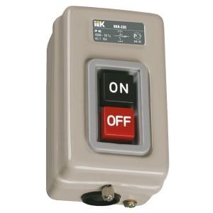 Выключатель кнопочный с механической блокировкой ВКИ-230 3Р  16А 230/400В IP40  ИЭК