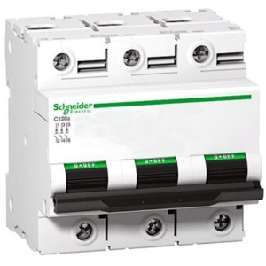 Автоматический выключатель Schneider Electric Acti 9 C120N 3П 100A C 10кА 4,5 модуля (автомат)
